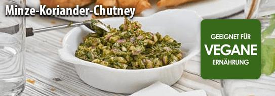 Rezeptempfehlung für Sie: Minze-Koriander-Chutney - zum Bestellen hier klicken!
