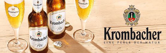 Markenshop Krombacher - zum Bestellen hier klicken.