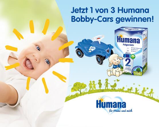 Humana Artikel kaufen 1 von 3 Humana Bobbycars gewinnen, inkl. MwSt., zzgl. Versand - zum Bestellen hier klicken