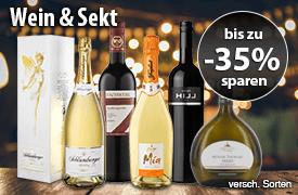 Angebot: Wein & Sekt bis zu 35 Prozent reduziert, inkl. MwSt., zzgl. Versand - zum Bestellen hier klicken