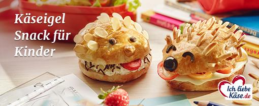 Käseigel Snack für Kinder