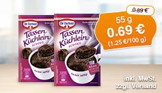 Dr. Oetker Tassen Küchlein Schoko (55 g), Streichpreis 2,79 Euro, aktionspreis 2,49 Euro, inkl. MwSt, zzgl. Versand - zum Bestellen hier klicken.