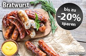 Bis zu 20 Prozent Rabatt auf Bratwurst - zum Bestellen hier klicken