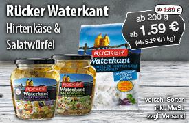 Angebot: Rücker Waterkant, ab 200g, Streichpreis: ab 1,89 Euro, Angebotspreis: ab 1,59 Euro, inkl. MwSt., zzgl. Versand - zum Bestellen hier klicken