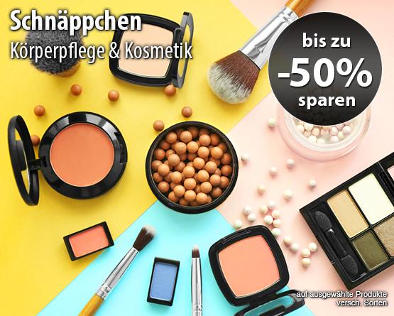 Bis zu 50 Prozent Rabatt auf ausgewählte Produkte aus dem Bereich Körperpflege und Kosmetik - zum Bestellen hier klicken