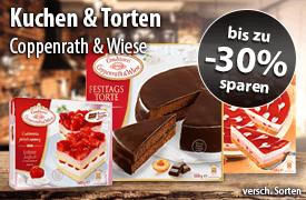 Bis zu 30 Prozent Rabatt auf Coppenrath & Wiese Kuchen & Torten - zum Bestellen hier klicken