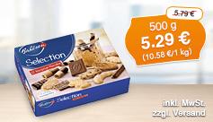 Angebot: Bahlsen Selection knusprige Klassiker, 500g, Streichpreis 5,79 Euro, Aktionspreis 5,29 Euro, inkl. MwSt, zzgl. Versand - zum Bestellen hier klicken.