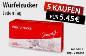 Kaufen Sie 5x Jeden Tag Würfelzucker und zahlen Sie nur 5,45 Euro - zum Bestellen hier klicken!
