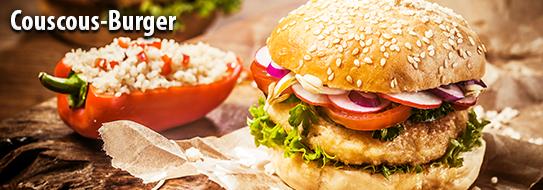 Rezeptempfehlung für Sie: Couscous Burger - zum Bestellen hier klicken!