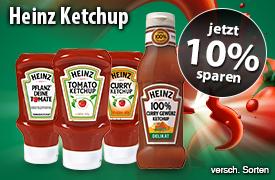 Angebot: Jetzt 10% auf Heinz Ketchup - zum Bestellen hier klicken