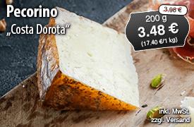 Angebot: Pecorino Costa Dorota, 200g Streichpreis 3,48 Euro, Angebotspreis 3,98 Euro, zzgl. Versand, inkl. MwSt. - zum Bestellen hier klicken
