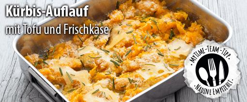 Kuerbis-Tofu-Auflauf mit Frischkaese