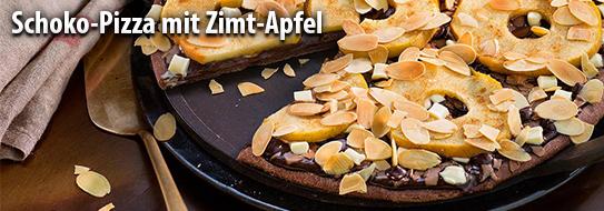 Schoko-Pizza mit Zimt-Apfel