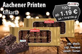 Angebot: Kinkartz Aachener Printen, Streichpreis ab 1,39 Euro, Angebotspreis ab 1,19 Euro, zzgl. Versand, inkl. MwSt., versch. Sorten - zum Bestellen hier klicken