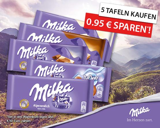Angebot: Jetzt Milka Set kaufen und 0,95 Euro sparen! - zum Bestellen hier klicken