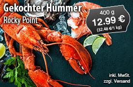 Rocky Point Gekochter Hummer (400g) für 12,99 Euro, inkl. MwSt., zzgl. Versand - zum Bestellen hier klicken