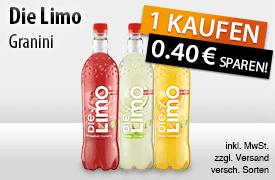 Jetzt 0,40 Euro Sofortrabatt beim Kauf einer FLasche Granini Die Limo (1l) sichern! - zum Bestellen hier klicken