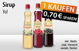 Jetzt 0,70 Euro Sofortrabatt beim Kauf einer FLasche Yo Sirup (700 ml)  sichern! - zum Bestellen hier klicken