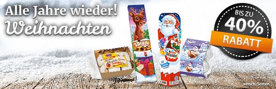 Weihnachtssale! Jetzt Weihnachtsartikel stark reduziert! - zum Bestellen hier klicken