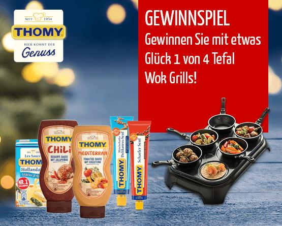 Beantworten Sie unsere Frage und gewinnen Sie mit etwas Glück 1 von 4 Tefal Wok Grills - zum bestellen hier klicken