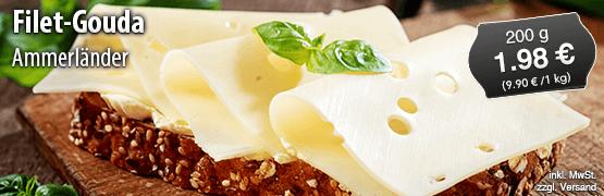 Ammerländer Filet-Gouda, 200g, 1,98 Euro, zzgl. Versand, inkl. MwSt. - zum Bestellen hier klicken