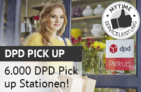myTime.de liefert jetzt auch an 6000 dpd pick up Stationen