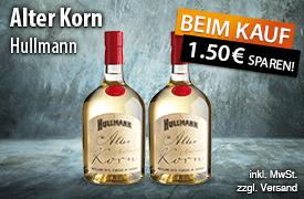 Angebot: Hullmann Alter Korn (700 ml), Aktionspreis: 10,99 Euro, Streichpreis: 12,49 Euro, zzgl. Versand, inkl. MwSt. - zum Bestellen hier klicken