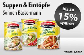 Angebot: 15% auf Sonnen Bassermann Suppen und Eintöpfen sparen - zum Bestellen hier klicken