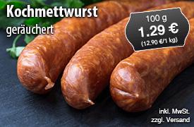 Kochmettwurst geräuchert, Preis 12,90 Euro/kg, zzgl. Versand, inkl. MwSt. - zum Bestellen hier klicken