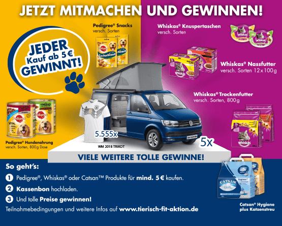 Jetzt Mars Tierfutter im Wert von 5,00 Euro kaufen und Gewinn sichern!- zum Bestellen hier klicken
