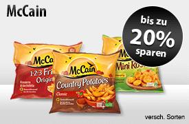 Angebot: Sparen Sie bis zu 20 Prozent auf McCain Produkte - zum Bestellen hier klicken