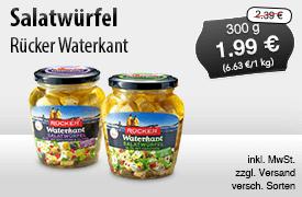Angebot: Ruecker Waterkant Salatwuerfel (300g), Angebotspreis: 1,99 Euro, Streichpreis: 2,39 Euro, zzgl. Versand, inkl. MwSt., versch. Sorten - zum Bestellen hier klicken