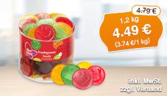 Angebot: Red Band Fruchtgummi Smile (1,2kg), Angebotspreis: 4,49 Euro, Streichpreis: 4,79 Euro, zzgl. Versand, inkl. MwSt. - zum Bestellen hier klicken.