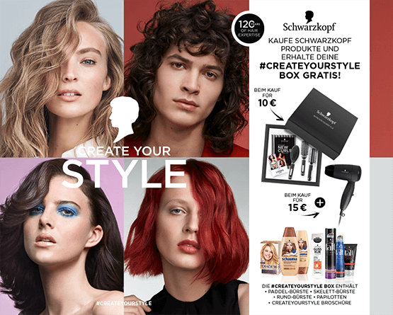 Kaufe Schwarzkopf Produkte und erhalte deine #create your style box gratis - Zum Bestellen hier klicken