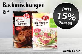 Angebot: Sparen Sie 15 Prozent auf Ruf Kuchenbackmischungen - zum Bestellen hier klicken