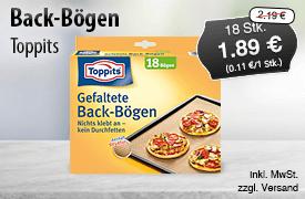 Angebot: Toppits Backboegen gefaltet (18 Stk.), Angeobtspreis: 1,89 Euro, Streichpreis: 2,19 Euro, zzgl. Versand, inkl. MwSt. - zum Bestellen hier klicken