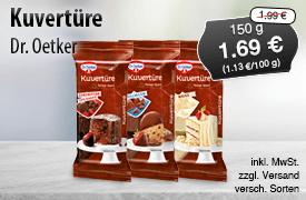 Angebot: Dr. Oetker Kovertuere (150g), Angebotspreis: 1,69 Euro, Streichpreis: 1,99 Euro, inkl. MwSt., zzgl. Versand, versch. Sorten - zum Bestellen hier klicken