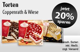 Angebot: Sparen Sie 20 Prozent auf Coppenrath und Wiese Torten - zum Bestellen hier klicken
