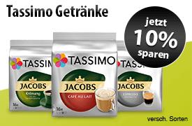 Angebot: Sparen Sie jetzt 10 Prozent auf Tassimo Getraenke - zum Bestellen hier klicken