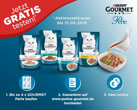 Purina Gourmet Perle gratis testen - Zum Bestellen hier klicken