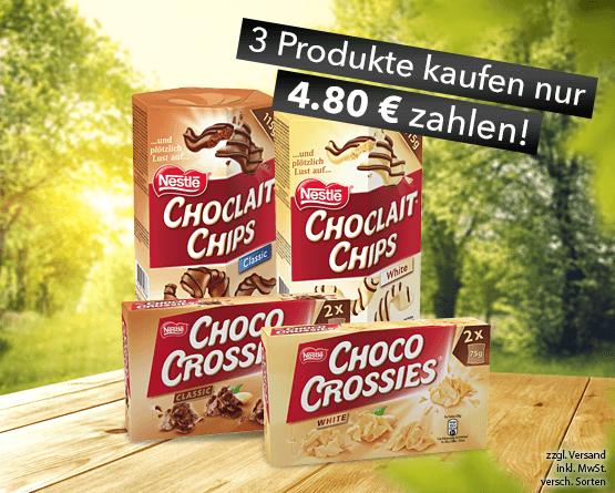 Angebot: Kaufe 3 Choco Crossies oder Chips Produkte und zahle nur 4,80 Euro - Zum Bestellen hier klicken