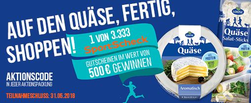 1 von 3.333 SportScheck Gutscheinen im Wert von 500 Euro gewinnen