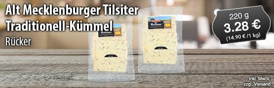 Ruecker Alt Mecklenburger Tilsiter Traditionell Kuemmel, 220 g, Preis: 3,28 Euro, inkl. MwSt., zzgl. Versand - zum Bestellen hier klicken