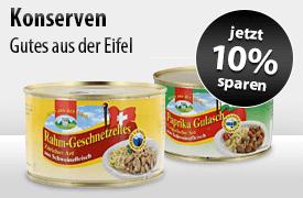 Angebot: Sparen Sie 10 Prozent auf Eifel Konserven - zum Bestellen hier klicken