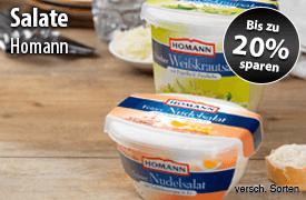 Angebot: Sparen Sie 20 Prozent auf Homann Salate- zum Bestellen hier klicken