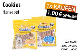 Angebot: Kaufen Sie ein Hansepet Produkt und erhalten Sie einen Sofortrabatt von 1,00 Euro, zzgl. Versand, inkl. MwSt., versch. Sorten - zum Bestellen hier klicken