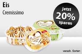Angebot: Sparen Sie 20 Prozent auf Cremissimo Eis - zum Bestellen hier klicken