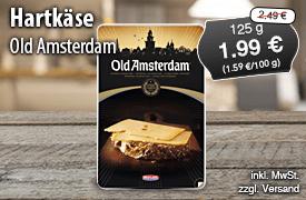 Angebot: Old Amsterdam Hartkaese, 125 g, Angebotspreis: 1,99 Euro, Streichpreis: 2,69 Euro, zzgl. Versand, inkl. MwSt. - zum Bestellen hier klicken