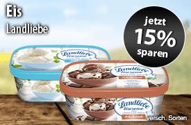 Angebot: Sparen Sie 15 Prozent auf Landliebe Eiscreme - zum Bestellen hier klicken