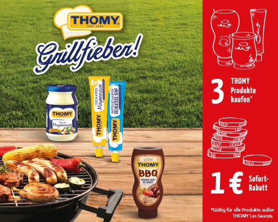Angebot: Kaufe 3 Thomy Produkte und erhalten Sie einen Rabatt von 1,00 Euro - Jetzt mitmachen